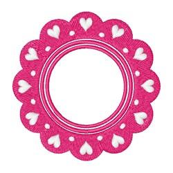 Valentines Day Monogram Frame embroidery design