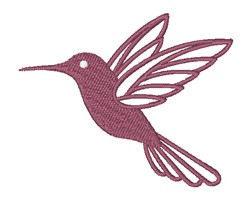 Hummingbird Silhouette embroidery design