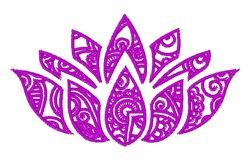 Lotus Floral Outline embroidery design