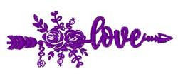 Southwestern Love Arrow embroidery design