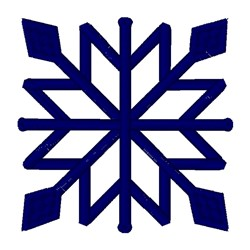 Square Snowflake embroidery design