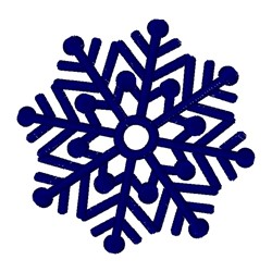Decorative Christmas Snowflake embroidery design