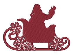 Santa & Sleigh Silhouette embroidery design
