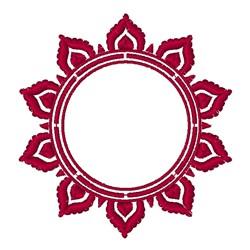 Sun Monogram Frame embroidery design