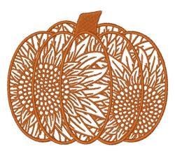 Decorative Sunflower Pumpkin embroidery design