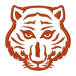Tiger Head Outline embroidery design