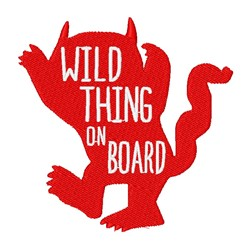 Wild Thing On Board embroidery design