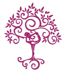 Yoga Tree embroidery design