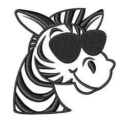 Zebra & Sunglasses embroidery design