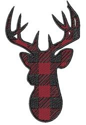 Buffalo Plaid Buck embroidery design