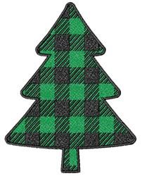 Buffalo Plaid Christmas Tree embroidery design
