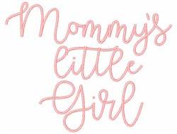 Mommys Little Girl embroidery design