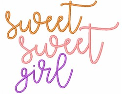 Sweet Girl embroidery design