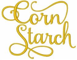 Corn Starch embroidery design
