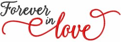 Fall In Love embroidery design