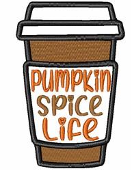 Pumpkin Spice Life embroidery design