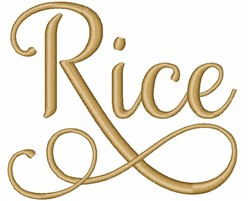 Rice embroidery design