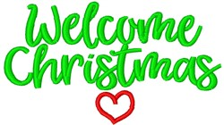 Welcome Christmas embroidery design