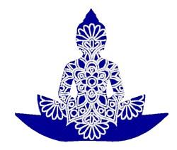 Buddha  Mandala embroidery design