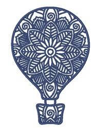 Hot Air Balloon Mandala embroidery design