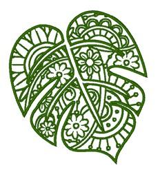 Monstera Leaf embroidery design
