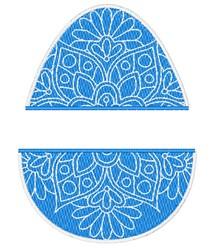 Easter Egg Split embroidery design