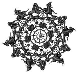 Halloween Mandala embroidery design