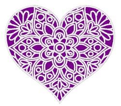 Heart Mandala embroidery design