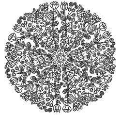 Flower Mandala embroidery design