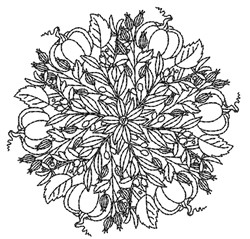 Pumpkin Mandala embroidery design