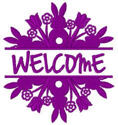 Welcome Easter embroidery design