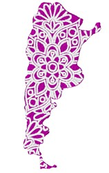 Argentina Mandala embroidery design