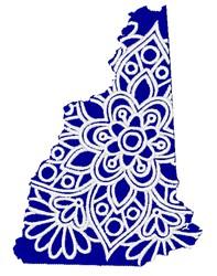 New Hampshire Mandala embroidery design