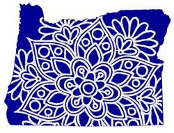 Oregon Mandala embroidery design