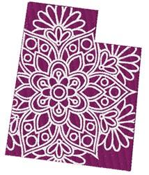 Utah Mandala embroidery design