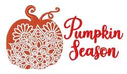 Pumpkin Season embroidery design