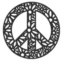 Peace Sign embroidery design