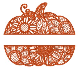 Split Pumpkin embroidery design