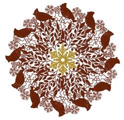 Cardinal Mandala embroidery design