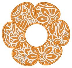 Monogram Flower embroidery design
