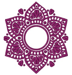 Mandala Bloom embroidery design