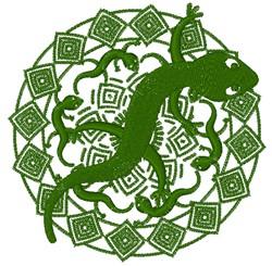 Lizard Mandala embroidery design