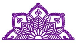 Half Blossom embroidery design