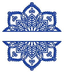 Flower Split embroidery design