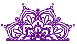 Half Mandala embroidery design