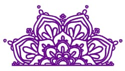 Mandala Half embroidery design