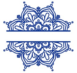 Mandala Split embroidery design