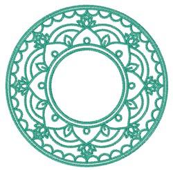 Monogram Mandala embroidery design