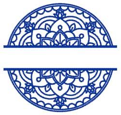 Split Mandala embroidery design