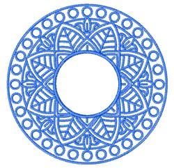 Mandala Monogram embroidery design